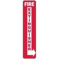 Slim-Line Fire Extinguisher (Right Arrow) Sign
