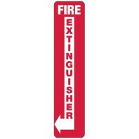Slim-Line Fire Extinguisher (Left Arrow) Sign