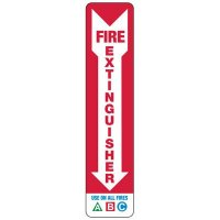 Slim-Line Fire Extinguisher Use On All Fires Sign