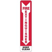 Slim-Line Fire Extinguisher Keep Clear Sign