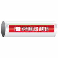Fire Sprinkler Water - Opti-Code® Self-Adhesive Pipe Marker