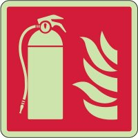 Fire Extinguisher Symbol Photoluminescent Sign