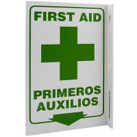 First Aid Bilingual L-Style Sign