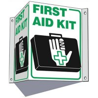 3 Way First Aid Sign - First Aid Kit