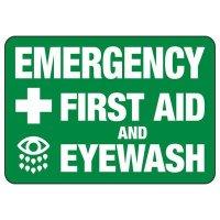 First Aid And Eyewash Sign