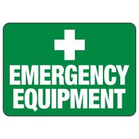 Emergency Equipment First Aid Sign