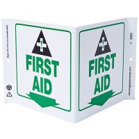 First Aid V-Style Sign