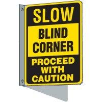 Flanged Traffic Blind Corner Sign
