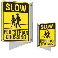 Flanged Traffic Pedestrian Crossing Sign