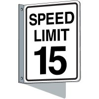 Flanged Traffic Speed Limit 15 Signs