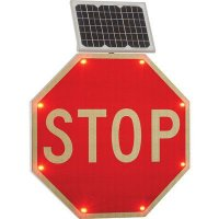 Solar Powered LED Signs - Stop Sign