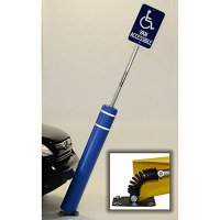 FlexPost Bollard W 8' Sign Post