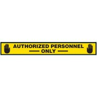 Authorized Personnel Only Floor Marking Strips