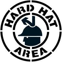Hard Hat Area Floor Stencil Pavement Tool S-5518 D