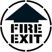 Fire Exit Floor Stencil Pavement Tool S-5526 D