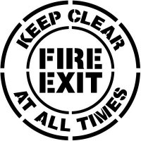 Fire Exit Floor Stencil