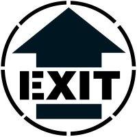 Exit Arrow Floor Stencil Pavement Tool S-5504 D