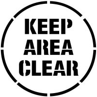 Keep Area Clear Floor Stencil Pavement Tool S-5508 D