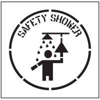 Floor Stencils - Safety Shower