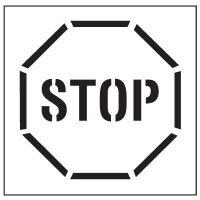 Floor Stencils - Stop