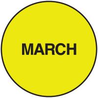 Fluorescent March Dot Labels