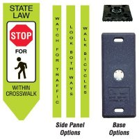 Four-Sided Omni-Ped Pedestrian Crosswalk Centers - Stop