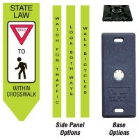 Four-Sided Omni-Ped Pedestrian Crosswalk Centers - Yield