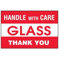 Glass Package Handling Label