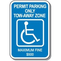 State-Specific Handicap Parking Signs - Georgia