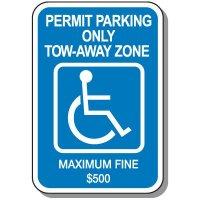 State-Specific Handicap Parking Signs - Georgia