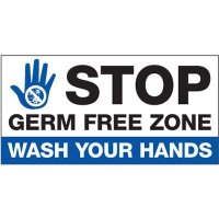 Germ Free Zone Wash Your Hands Sign