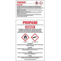 GHS Chemical Labels - Propane