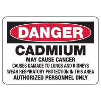 Mandatory GHS Safety Signs - Danger Cadmium