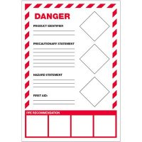 GHS Secondary Container Labels - Danger First Aid