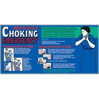 Giant Instructional Wall Graphics - Choking Emergency