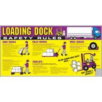 Giant Instructional Wall Graphics - Loading Dock Safety Rules