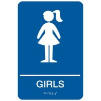 Girls - Economy Braille Signs