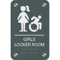 Girl's Locker Room - Premium ADA Facility Signs