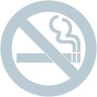 No Smoking Glass Awareness Labels