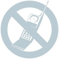 No Cell Phone Glass Labels
