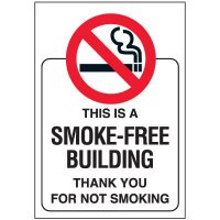 Smoke-Free Building Door and Window Labels