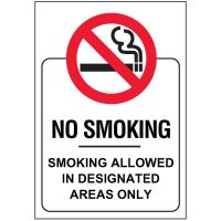 No Smoking Glass Door and Window Labels