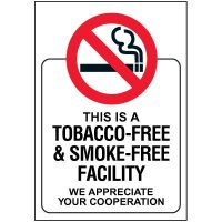 Tobacco and Smoke-Free Facility Door and Window Labels