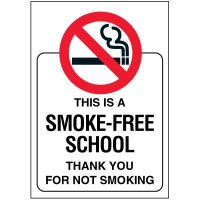 Smoke-Free School Door and Window Labels