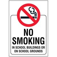 No Smoking On School Grounds Door and Window Labels
