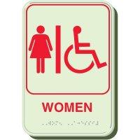 Glow In The Dark Women's Braille Sign