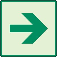 Glow In The Dark Right Arrow Sign
