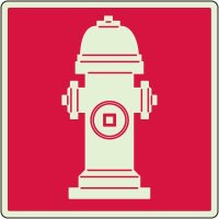 Glow In The Dark Fire Hydrant Marker Sign