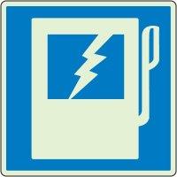 Glowing Electric Panel Shutoff Sign