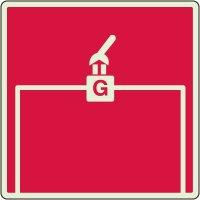 Glow In The Dark Gas Shutoff Valve Sign